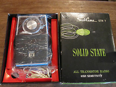 Vintage Sublime AM STR 7 Transitor Radio, Never Used    NICE !