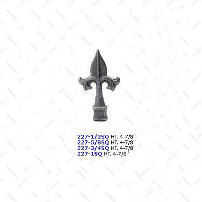 Cast Iron Finials ***LOT of 100*** Wrought Iron Fence Square Tube - #227