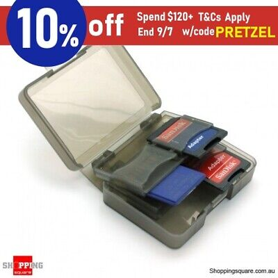 8 SD Card Memory Card Case Holder Storage Box Black