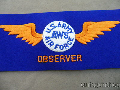 Mint Wwii Us Army Air Corps Aws Observer Arm Band