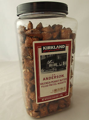 Kirkland Peanut Butter Filled Salted Pretzels By H K Handerson Large 1.47Kg Tub