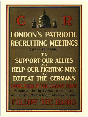 London's Patriotic Recruiting   -  Wartime Poster