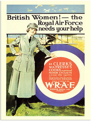 British Women! the RAF needs your help - WARTIME POSTER