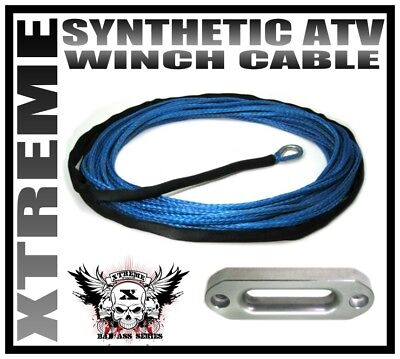 GUARD AND HAWSE PACKAGE 50/' DYNEEMA SK75 SYNTHETIC ATV UTV WINCH CABLE HOOK