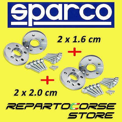 SPARCO WHEEL SPACERS KIT (2 x 16mm + 2 x 20mm) WITH BOLTS AUDI A4 8H7 B6 8HE B7