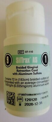 Siltrax AS Aluminum Sulfate Gingival Retraction Cord Packing Dental Pascal