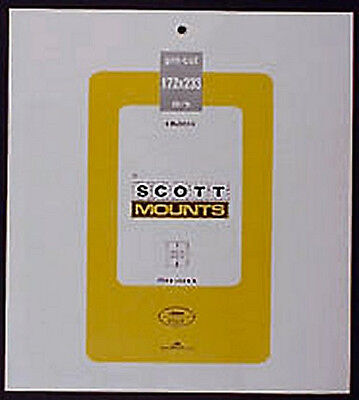 Prinz Scott Stamp Mount 172/233 - BLACK Background - Pack of 3