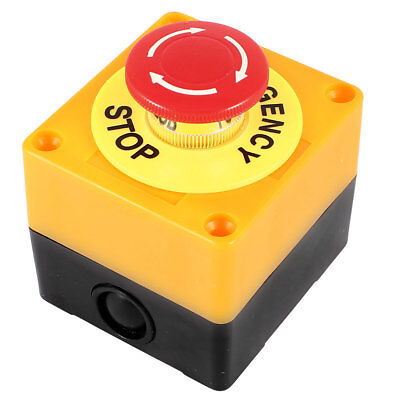 AC 660V 10A Latching NC Emergency Stop Red Mushroom Push Button Switch Station