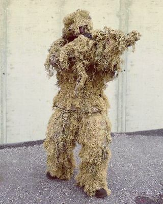 GHILLIE SUIT ANTI FIRE 4 teilig DESERT FADENGHILLIE PAINTBALL Tarnanzug