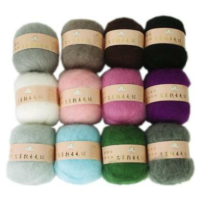 Skein of Soft Angora Mohair Cashmere Wool Knitting Yarn DIY Crocheting Craft 50g