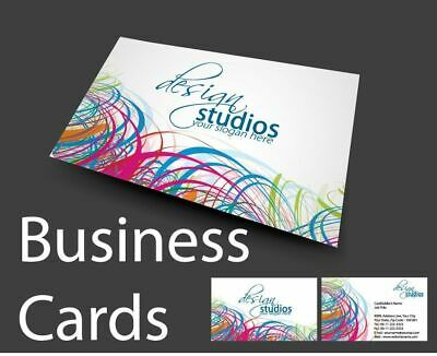 250 Quality Full Colour Double Sided Business Cards 350gsm Board 24hr Service