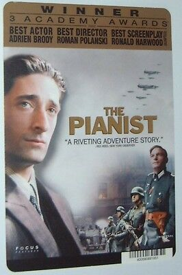 THE PIANIST movie backer card ADRIEN BRODY  - this is NOT a dvd