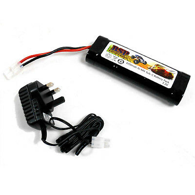 BSP RC Electric 7.2v 4700mah Ni-MH Rechargeable Battery Pack and Charger Tamiya