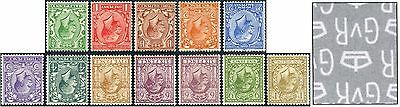 1924 KGV Block Cypher Definitives WATERMARK INVERTED SG 418Wi-429Wi