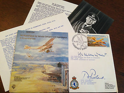 RAF Avro 504 1982 Cover Signed