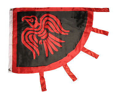 3'x4' ft Viking Raven Flag Red and Black Norse Norseman 3x4 Flag grommets