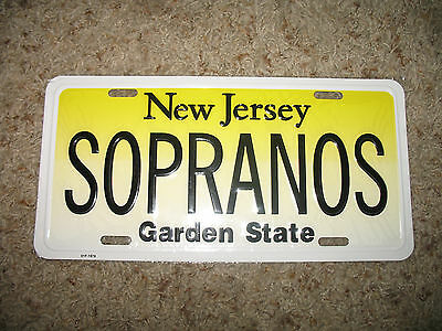New Jersey Sopranos Garden State Aluminum License Plate Tag