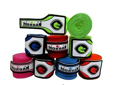 5x MORGAN BOXING HAND WRAPS 4M NEW PAIR STRETCHABLE ELASTIC (MEXICO STYLE)
