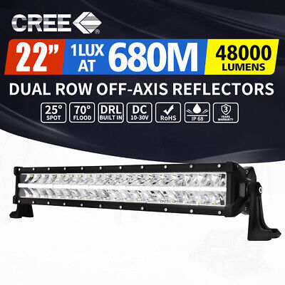 2x 7inch 100W HID XENON Driving Lights Spotlight OffRoad UTE Work Lamp 4WD 12V