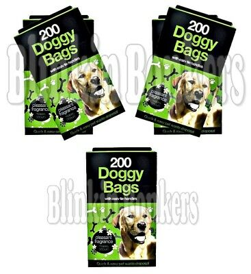 1000 Poop Scoop Bags Scented Pet Doggy Poo Waste Pooper Scooper Tie Handles 38A