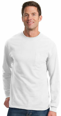 Port & Company Big & Tall Men's Long Sleeve Pocket T-Shirt LT-4XLT. PC61LSPT