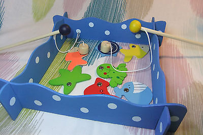 Kaper Kidz Children's Toy Wooden Pretend Play Magnetic Fishing Set Game!