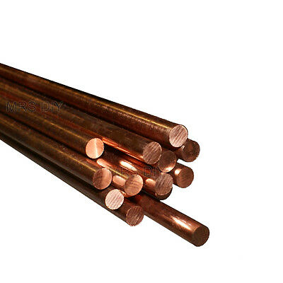 "Round Copper Bar 1/4"" (6.35mm) Milling Lathe Engraver Copper Round Rod"