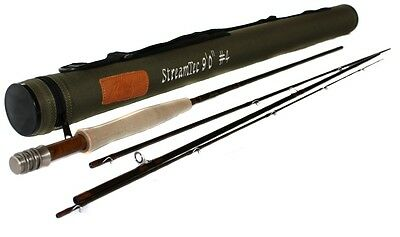 "NEW Flextec STREAMTEC Graphite Carbon Fibre Fly Fishing Rod 6' 7' 6"" 8' 9' 10'"