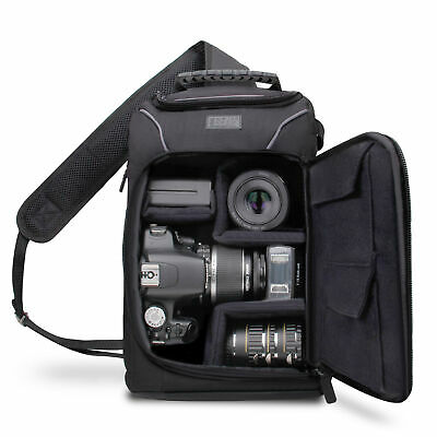 Pro SLR Camera Backpack w/Rain Cover,Storage for Lenses,Tripods-Canon,Nikon,Sony