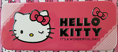 Official Sanrio licensed - Pink Hello Kitty Character Pencil Case (NEW).