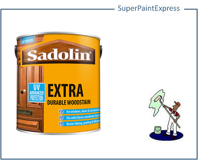 Sadolin EXTRA Woodstain 5 litre. 2.5 . 1 ltr  All colours available.  New stock.