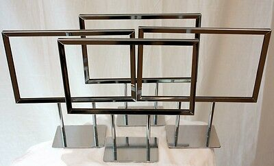 Retail Display Frame 8 New Counter Sale Sign Holder Price Store Case Metal Rack