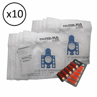 10 Dust Bags Filters & Air  Fresheners for MIELE GN type S5261 & S5211 hoover