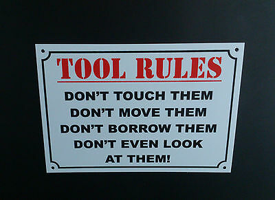 Funny Sign Tool Rules, Work, Factory, Garage, Dad, Grandad, Gift, Present, A5