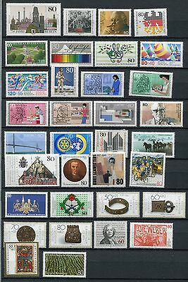 GERMANY 1987 MNH COMMEMORATIVES COMPLETE YEAR 34 Stamps