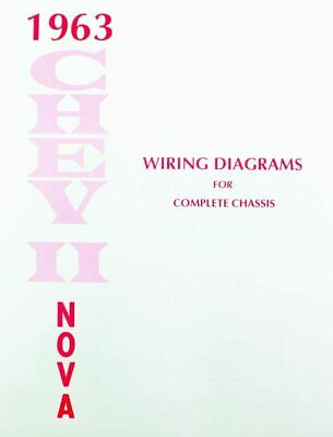 63 chevy impala electrical wiring diagram manual 1963 $7 49 picclick  63 1963 chevy nova electrical wiring diagram manual