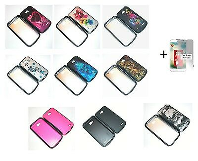 LG Optimus L90 / D415 (T-Mobile) Hybrid Phone Cover Case + Free Screen Protector