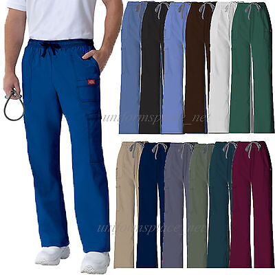 Dickies Scrub Pants Mens Youtility Medical Scrubs Drawstring Cargo Pant 81003