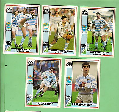 1991 Argentina  Pumas Rugby Union World Cup Cards