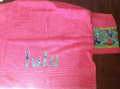 Handmade octopus under the sea hooded towel with personalized name