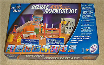 EDU Science Deluxe Scientist Kit 450+ Experiments Physics & Energy Ages 10+