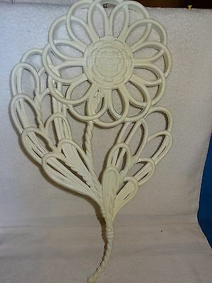 HOMCO Burwood Large White Flower Wall Decor- Made in USA- 1978