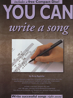 You Can Write A Song Music Book/CD Learn How to Write A Song Guide