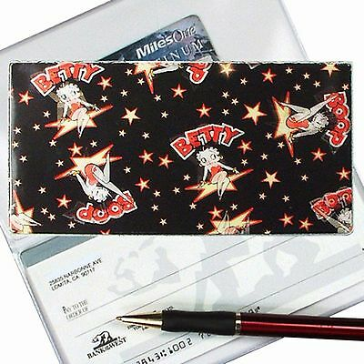 Betty Boop Checkbook Cover Lenticular Cartoon  Rare Vintage Black - #BB-100-CBC#