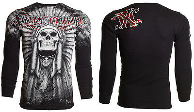 Xtreme Couture AFFLICTION Mens THERMAL T-Shirt PALA Tattoo Biker M-3XL $58