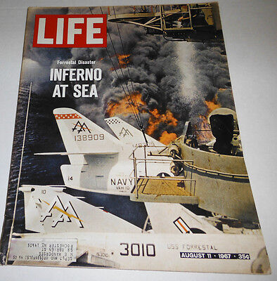 Life Magazine Inferno At Sea August 1967 062314R