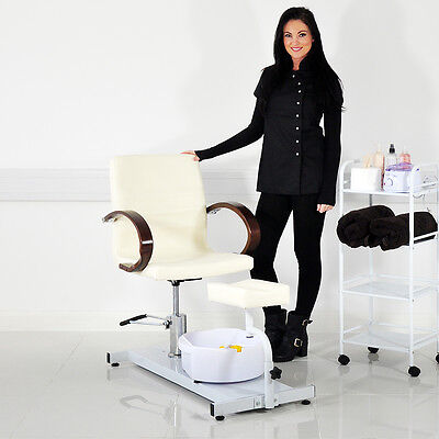 Beauty Salon Cream Leather Pedicure Furniture Station Treatment Accessories M...