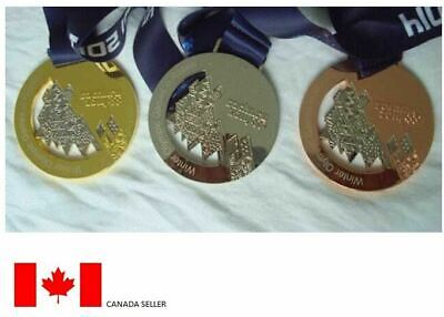 Sochi 2014 Olympic Medals Set with Silk Ribbons & Display Stands !!!
