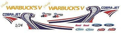 Daddy Warbuck's Cobra Jet Mustang NHRA - Drag 1/25th - 1/24th Scale Decals
