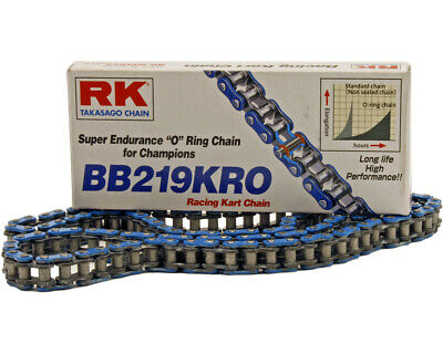 RK Blue Kart Racing Blue Super Endurance O Ring 219 Pitch Chain 106 Links